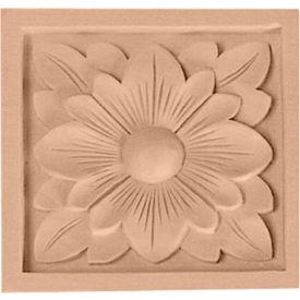 "Ekena Medium Dogwood Flower Rosette ROS03X03DG, 3-1/2""W x 3-1/2""H x 3/4""D"