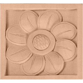 "Ekena Medium Sunflower Rosette ROS03X03X01SF, 3-1/2""W x 3-1/2""H x 3/4""D"