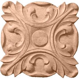"Ekena Acanthus Rosette ROS04X04ACRW, 4-1/4""W x 4-1/4""H x 5/8""D"