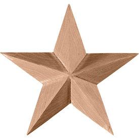 "Ekena Galveston Star Rosette ROS04X04GLMA, 4-1/8""W x 4-1/8""H x 5/8""D"