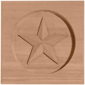 "Ekena Austin Star Rosette ROS05X05AUMA, 5""W x 5""H x 3/4""D"