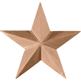 "Ekena Galveston Star Rosette ROS07X07GLRW, 7""W x 7""H x 1-1/8""D"