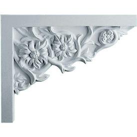 "Ekena Floral Small Stair Bracket SB09X07FL-R, 9""W x 7-1/4""H x 5/8""D"