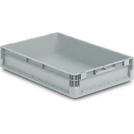 """Schaefer Straight Wall Stacking Container ELB6120.GY1 - 26-5/8""""L x 15-11/16""""W x 4-11/16""""H - Pkg Qty 10"""