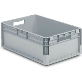 """Schaefer Straight Wall Stacking Container ELB6220.GY1 - 23-5/8""""L x 15-11/16""""W x 8-11/16""""H - Pkg Qty 6"""