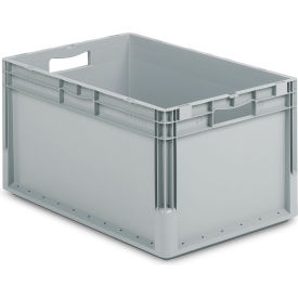 """Schaefer Straight Wall Stacking Container ELB6320.GY1 - 23-5/8""""L x 15-11/16""""W x 12-5/8""""H - Pkg Qty 4"""