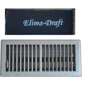 "Elima-Draft Commercial & Residential 12"" W x 4"" D x 2"" H- Insulated Floor Register Insert, 3 Pack"