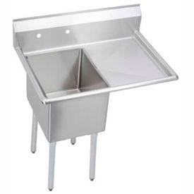 "Elkay E1C16X20-R-18X NSF Sink, 1-Compartment w/16""L x 20""W Bowl, 12"" Deep, (1) 18"" Right Drainboard"