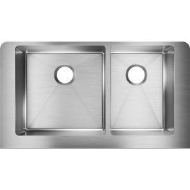 Elkay Crosstown ECTRUF32179R Steel Double Bowl Apron Front Undermount Kitchen Sink, 31-1/2... by
