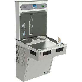 Elkay EMABF8WSLK EZH2O Water Bottle Refilling Station W/Single ADA Cooler, Refrig, Light Gray