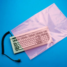 """Anti-Static Bag 24"""" x 18"""" 2 Mil Pink 250 Pack"""
