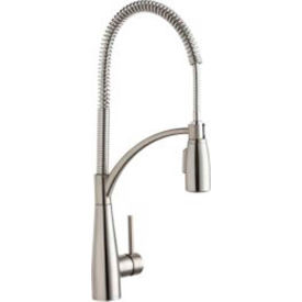 Gentil Elkay LKAV4061LS, Avado Semi Professional Kitchen Faucet, Lustrous Steel,  Single Lever Handle