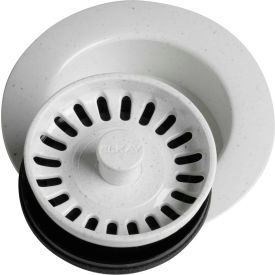 Elkay LKD35WH, White Disposal Flange w/Removable Basket Strainer For Kitchen Sink Disposer by