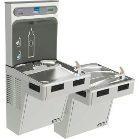 Elkay LMABFTL8WSSK EZH2O Water Bottle Refilling Station Bi-Level ADA Cooler, Filtered, Refrig, SS