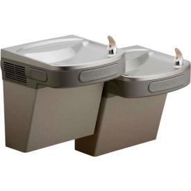 Elkay ADA Filtered Water Cooler, Light Gray Granite, 2 Station, 115V, 60Hz, 5 Amps, LZSTL8LC