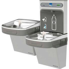 Elkay LZSTLDDWSLK EZH2O Water Bottle Refilling Station, Bi-Level, Non Refrig., Filtered, Light Gray
