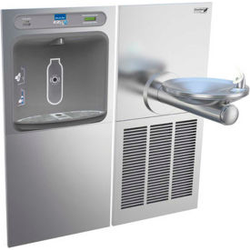Elkay LZWS-SFGRN8K EZH2O Water Bottle Refilling Station, Filtered, Single Refrig Fountain, SS