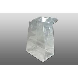 "Bottom Gusset Co-Extruded PP Soft Loop Handle Bag - 6-3/4"" x 8-1/2"" Pkg Qty 200"