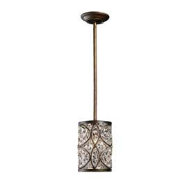 "ELK 11285/1 Amherst 1-Light Pendant, Antique Bronze, 6""W x 9""H"