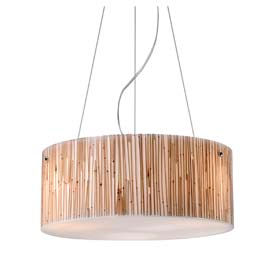 "ELK 19062/3 Modern Organics-3-Light Pendant, Bamboo Stem Material, Polished Chrome, 16""W x 6""H"