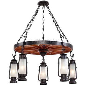 Landmark 65007-5 Chapman 5-Light Chandelier, Matte Black