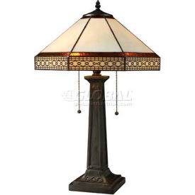 Dimond D1858 Stone Filigree 2 Light Table Lamp, Tiffany Bronze