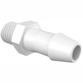 """Eldon James 1/4-28 UNF to 3/16"""" Barbed Adapter, Natural Nylon"""