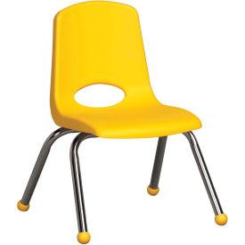 "ECR4Kids Classroom Stack Chair - 12"" - Yellow - Pkg Qty 6"