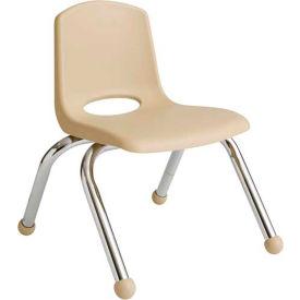 "ECR4Kids Classroom Stack Chair - 14"" - Sand - Pkg Qty 6"