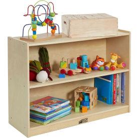 """ECR4Kids® 2 Shelf Cubby Storage Cabinet with Back, 36""""W x 13""""D x 26""""H"""