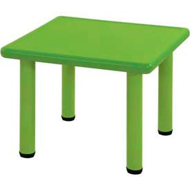 "ECR4Kids® 24"" Square Adjustable Resin Table, Green"