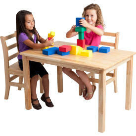 "ECR4Kids® 30"" x 48"" Rectangular Hardwood Table - 22"" Legs"