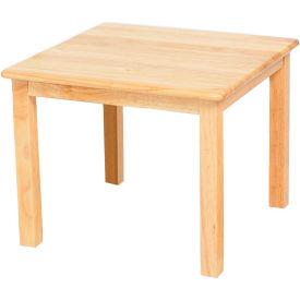 "24"" Square Hardwood Table (18"" Legs)"