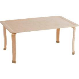 "ECR4Kids® 30"" x 48"" Bentwood Play Table - 20"" Legs"