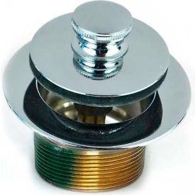 "Watco 38321-PB Push Pull® Tub Closure 1-5/8"" - 16 Thread W/Bushing Adapter, Polished Brass"