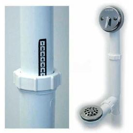Watco 500-Tq-Pvc-Cp Quick Adjust Trip Lever Bath Waste, Tubular Plastic Pvc, Chrome Plated-Pkg Qty 2