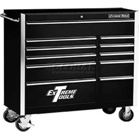"Extreme Tools 41"" 11 Drawer Standard Roller Cabinet in Black"