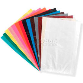 "High Density Oxo-Degradable Flat Bags In Dispenser 13"" x 10"" Burgundy 1,000 Pack"