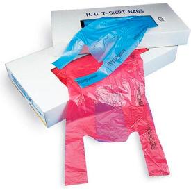 "T-Shirt Bag in Dispenser Carton 23""L x 12""W x 6""D Chocolate 1,000 Pack"