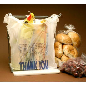 """Thank You T-Shirt Bag WithSuffocation Warning 22""""L x 12""""W 7""""D White 1,000 Pack"""