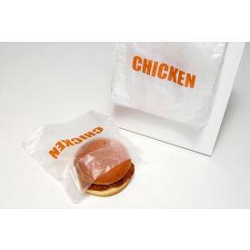 Saddle Pack Printed Chicken Bag 7 x 6.5 0.5 Mil, Pkg Qty 2,000