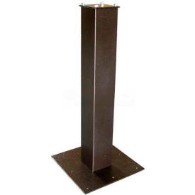 "Surface Mount Post 27-1/2""H and Base Plate Package Bronze"