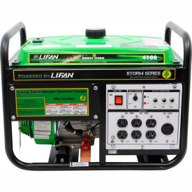 Lifan Power USA ES4100-CA, 3500 Watts, Portable Generator, Gasoline, Recoil Start, 120V