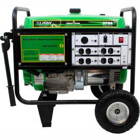 Lifan Power USA ES5700, 5000 Watts, Portable Generator, Gasoline, Recoil Start, 120V