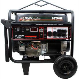 Lifan Power USA LF8750iE-CA, 8000 Watts, Portable Generator, Gasoline,Electric/Recoil Start,120/240V