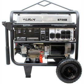 Lifan Power USA LF8750iEPL-CA, 8000 Watts,Portable Generator,Gasoline,Electric/Recoil Start,120/240V