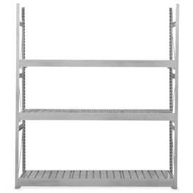 "Equipto Vg Bulk Rack 96""W X 30""D X 84""H Starter W/No Decking, Textured Dove Gray"