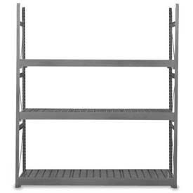 "Equipto Vg Bulk Rack 48""W X 30""D X 84""H Add-On W/Corrugated Steel Decking, Textured Evergreen"