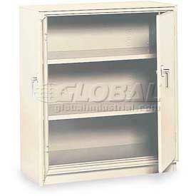 """Equipto Counter High Cabinet, 36""""W x 18""""D x 42""""H, Smooth Reflective White"""