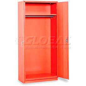 """Equipto Wardrobe Cabinet, 36""""W x 18""""D x 78""""H, Textured Cherry Red"""